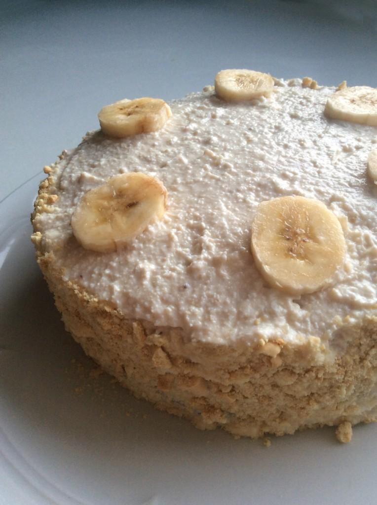 Banános túrókrémes torta (babáknak, 1 éves szülinapra)