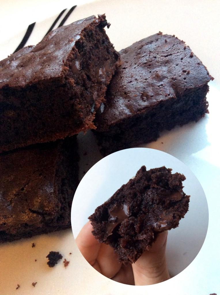 Szaftos cukkinis brownie